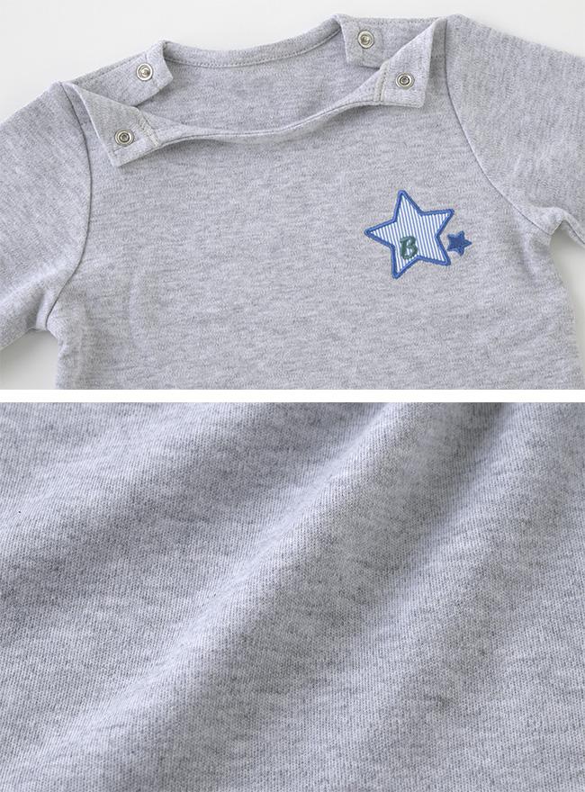 ボンシュシュ星柄長袖Tシャツ