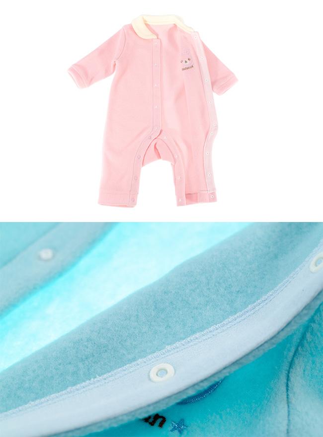 暖かフリース前開き長袖カバーオール[ベビー服][赤ちゃん][服][ベビー][カバーオール][長袖][男の子][女の子][60][70][80][お出かけ]