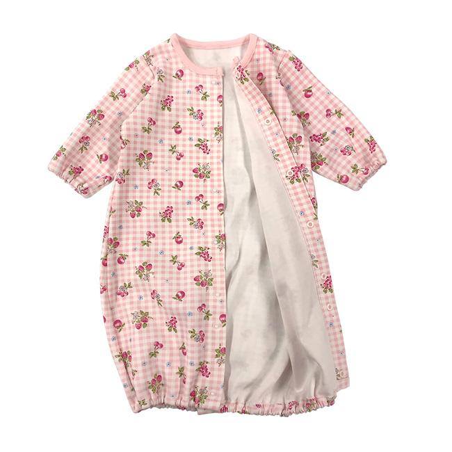 ベビー服 赤ちゃん 服 ベビー ツーウェイオール 女の子 新生児 2wayオール ドレスオール 50 60 スウィートガールベスト付き新生児ツーウェイオール