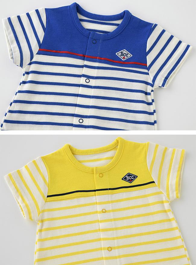 ボンシュシュ半袖ショート丈ツーウェイオール[ベビー服][赤ちゃん][服][ベビー][ツーウェイオール][男の子][新生児][2way][ドレスオール]