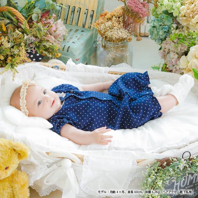 ボンシュシュ半袖ショート丈ツーウェイオール[ベビー服][赤ちゃん][服][ベビー][ツーウェイオール][女の子][新生児][2way][ドレスオール]