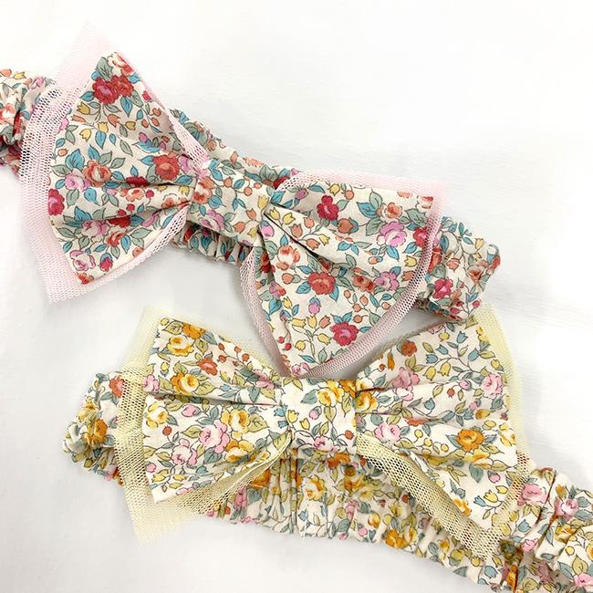 ベビー服 赤ちゃん 服 ベビー ヘアーバンド カチューシャ ヘアアクセ 出産祝い ギフト スウィートガール小花柄ヘアーバンド