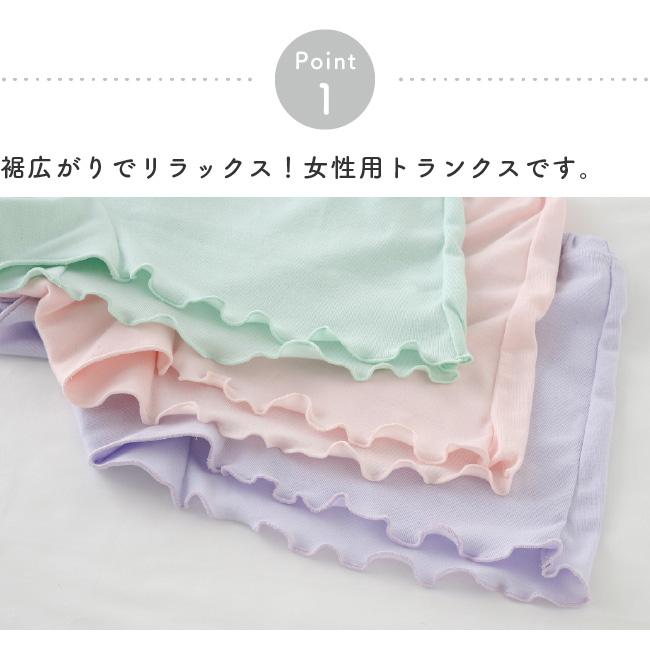 トランクス 女性用 レディース ショーツ 一分丈 パンツ 下着 M L LL 締めつけない 綿 ゆるねる 3枚セット Yuruneruトランクスショーツ3枚組