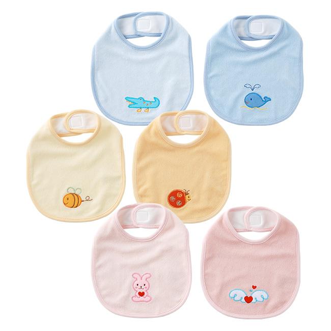 アップリケ付スタイ2枚セット[ベビー服][赤ちゃん][服][ベビー][スタイ][よだれかけ][ビブ][男の子][女の子][出産祝い][ギフト]