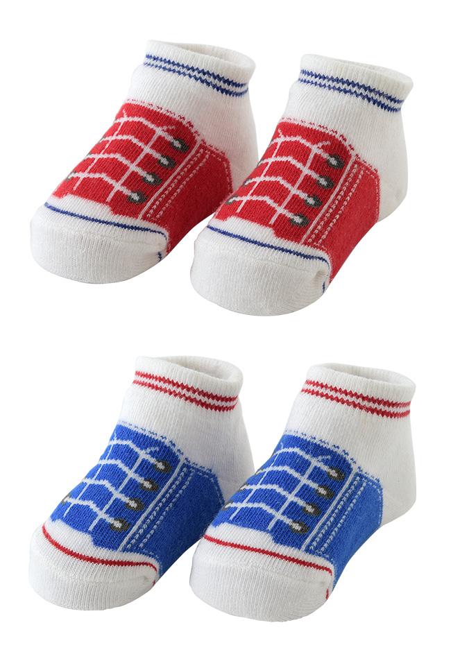 シューズ柄ソックス[ベビー服][赤ちゃん][服][ベビー][靴下][ソックス][クルー][男の子][女の子][出産祝い][ギフト]