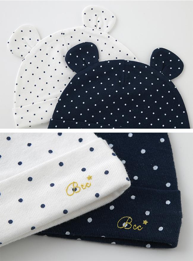 ボンシュシュ新生児帽子[ベビー服][赤ちゃん][服][ベビー][帽子][男の子][女の子][新生児][春][夏][プレゼント]