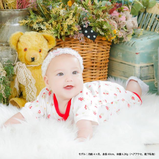 イチゴ小花柄&水玉ドット花柄新生児肌着10枚セット[ベビー服][赤ちゃん][服][ベビー][新生児肌着][短肌着][コンビ肌着][女の子][新生児][50][60]