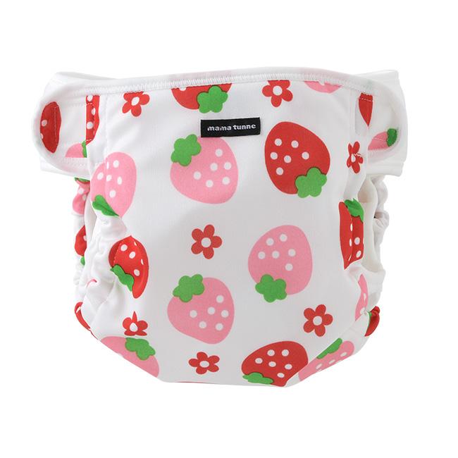 ベビー服 赤ちゃん 服 ベビー おむつカバー オムツカバー 布おむつ 80-95cm いちご柄内ベルトおむつカバー