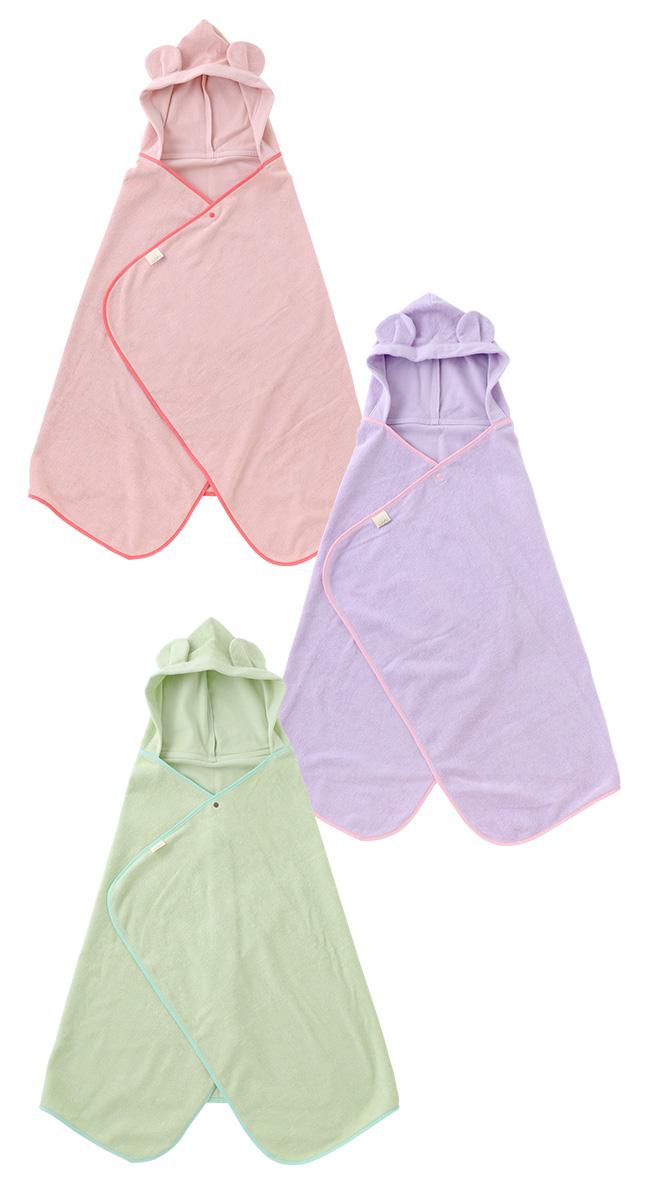 WAFUわふフード付きブランケット[ベビー服][赤ちゃん][服][ベビー][バスローブ][ブランケット][ポンチョ][男の子][女の子][風呂上がり][プール]