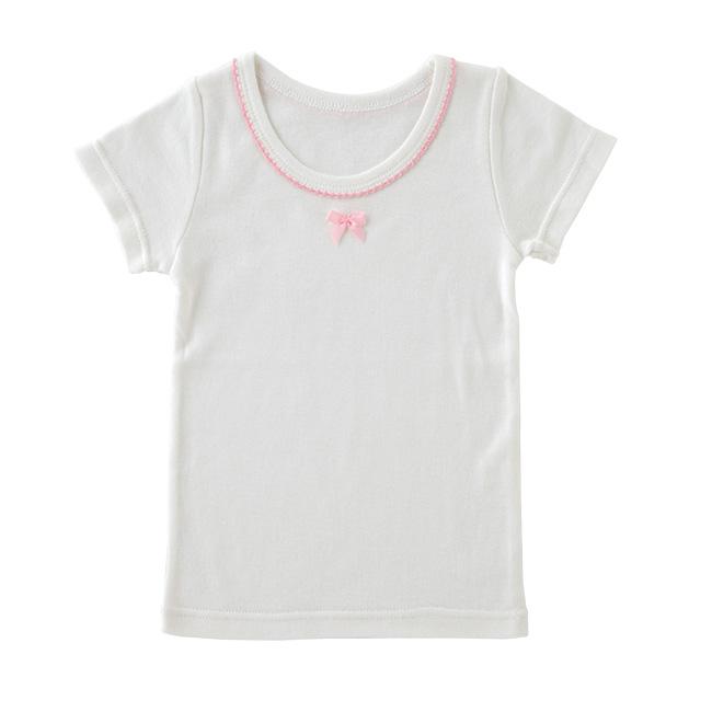 半袖インナーシャツ[ベビー服][赤ちゃん][服][ベビー][下着][半袖][女の子][保育園][80][90][95][100]