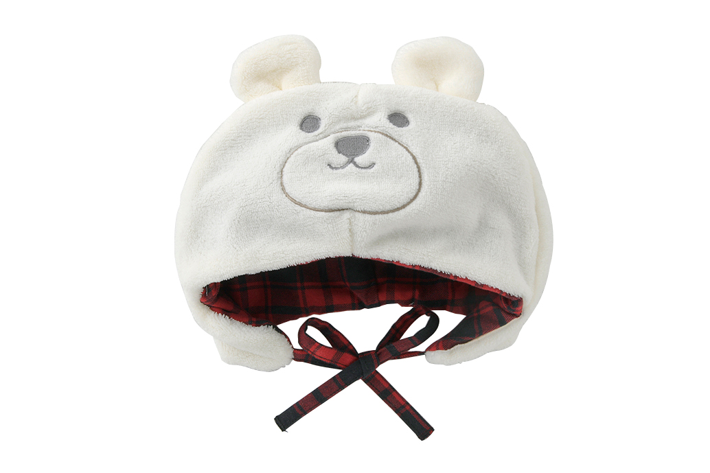 ベビー服 赤ちゃん 服 ベビー 帽子 着ぐるみ なりきり くま クマ ボア 耳付き ボンシュシュくま帽子