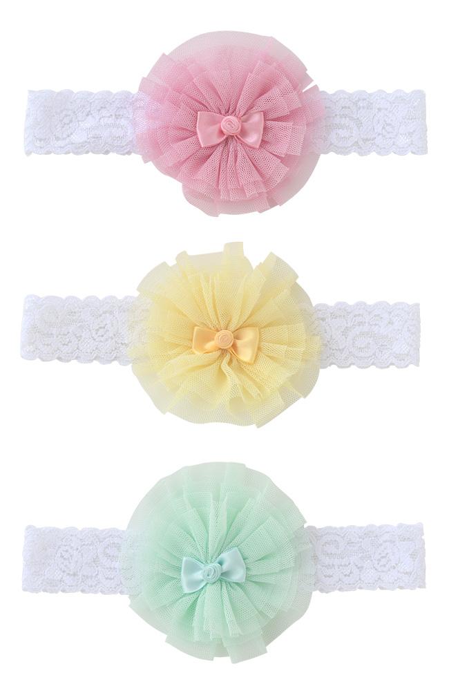 スウィートガールヘアーバンド[ベビー服][赤ちゃん][服][ベビー][ヘアアクセ][女の子][ヘアバンド][コサージュ][花][出産祝い][ギフト]