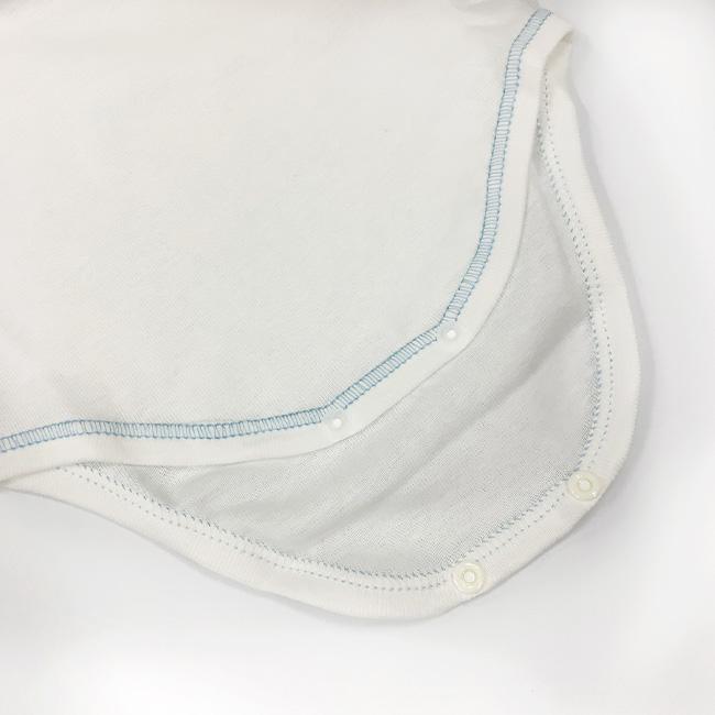ベビー服 赤ちゃん 服 ベビー ロンパース 半袖 かぶり 男の子 春夏 日本製 白 無地 60 70 80 半袖かぶりロンパース