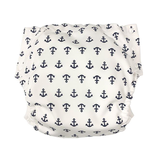 ベビー服 赤ちゃん 服 ベビー おむつカバー オムツカバー 布おむつ 80-95cm イカリ柄パンツ式おむつカバー
