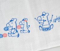 ベビー服 赤ちゃん 服 ベビー 布おむつ 布オムツ 反物 14枚取り 日本製 プリント入り お馬さん布おむつ反物