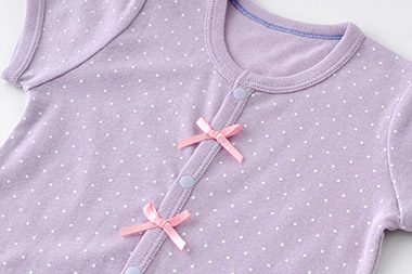 ベビー服 赤ちゃん 服 ベビー ロンパース ボディオール ボディスーツ 肌着 下着 女の子 60 70 80 ドット半袖ロンパース