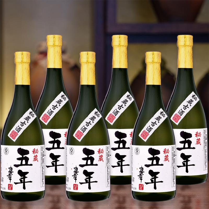 【古酒の日まとめ買い】5年古酒忠孝43度720ml 6本