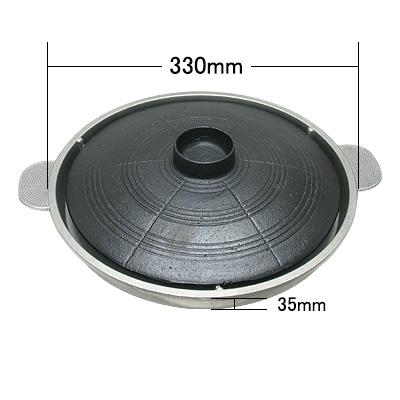 焼肉プレート(鍋蓋タイプ・ニンニク)(直径:330mm 高さ:35mm) 商品コード501055502