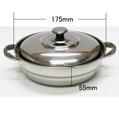 ステンレス鍋(金星:蓋付:1号〜5号) 商品コード509023101