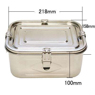 キムチ容器 (密閉容器 ステンレス角型・パッキンフック付:1号〜4号) 商品コード525019301
