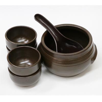 マッコリ壺セット(茶色バングリ1L) 商品コード201084604