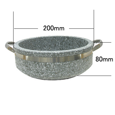 石焼鍋(200x40mm〜80mm・ハンドル付) 商品コード101033511