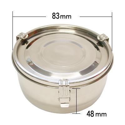 密閉容器 ステンレス(丸型・食缶タイプ 1号 〜4号) 商品コード509069301