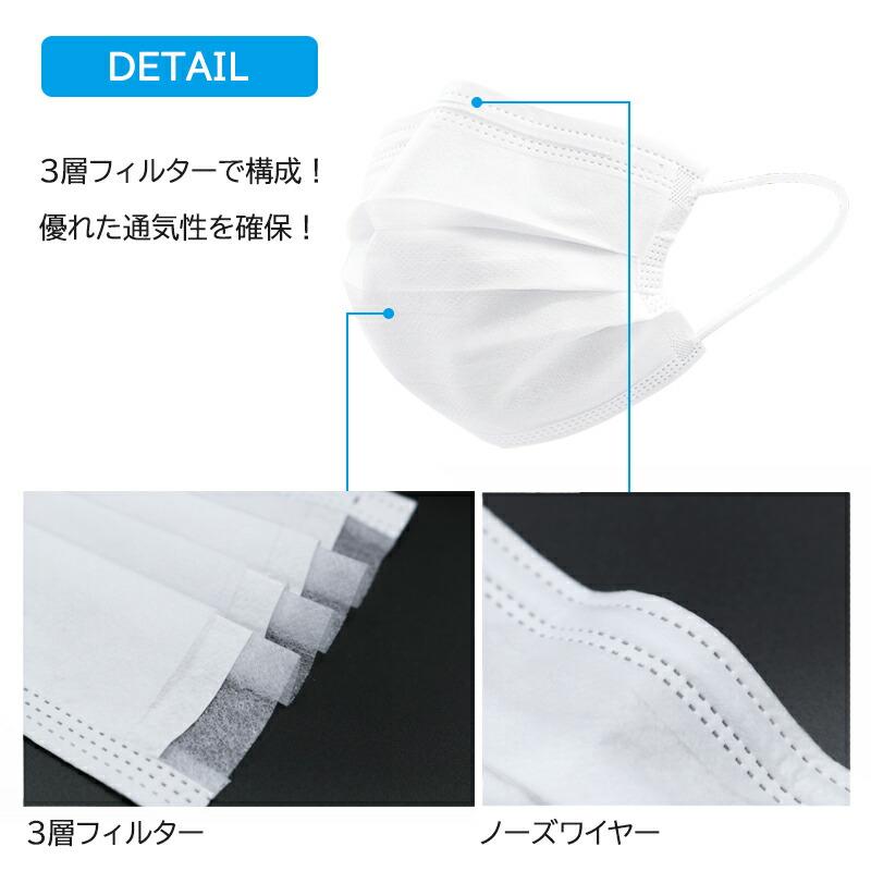 【不織布マスク】(17枚1パック×3)マスク 不織布 マスク 50枚 ×200箱 在庫あり