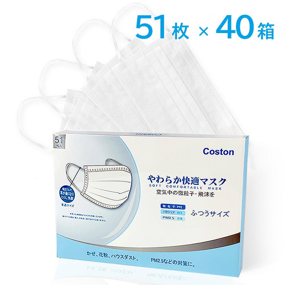 【不織布マスク】(17枚1パック×3)マスク 不織布 マスク 50枚 ×40箱 在庫あり