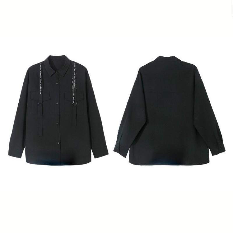 【BYJ】ファンクショナルプリントルーズシャツ◆トップス S、M、L