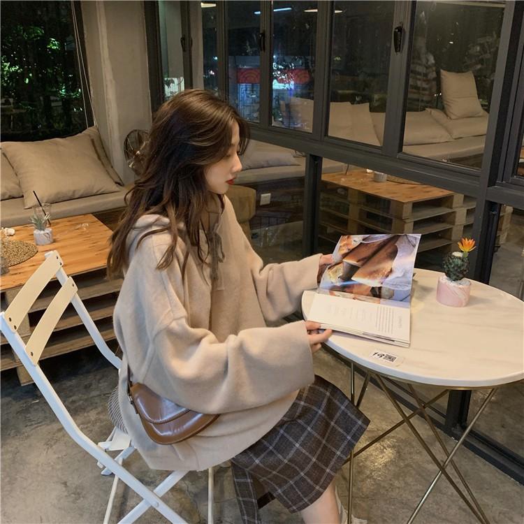2020冬新作 ゆったりサイズ フード付きウールセーター◆レディース トップス セーター ワンサイズ