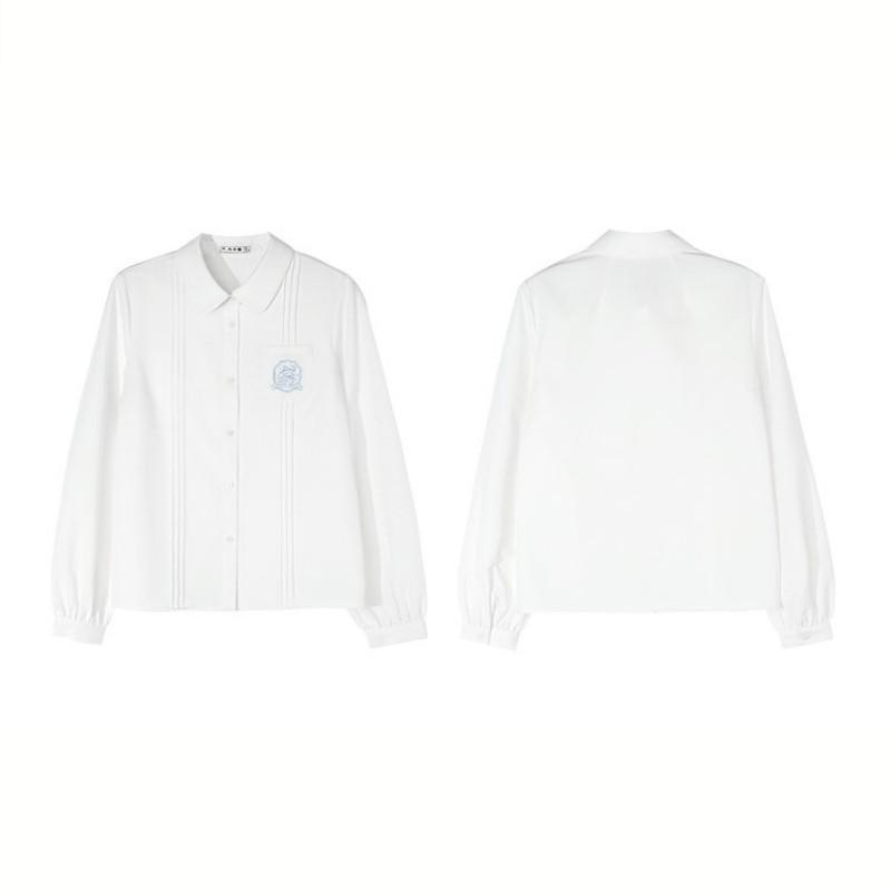 【BYJ】ホワイトプリーツシャツ◆トップス S、M、L