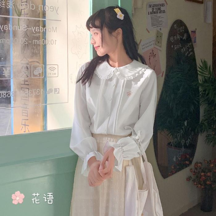 【BYJ】ドールカラープリーツシャツ◆トップス S、M、L