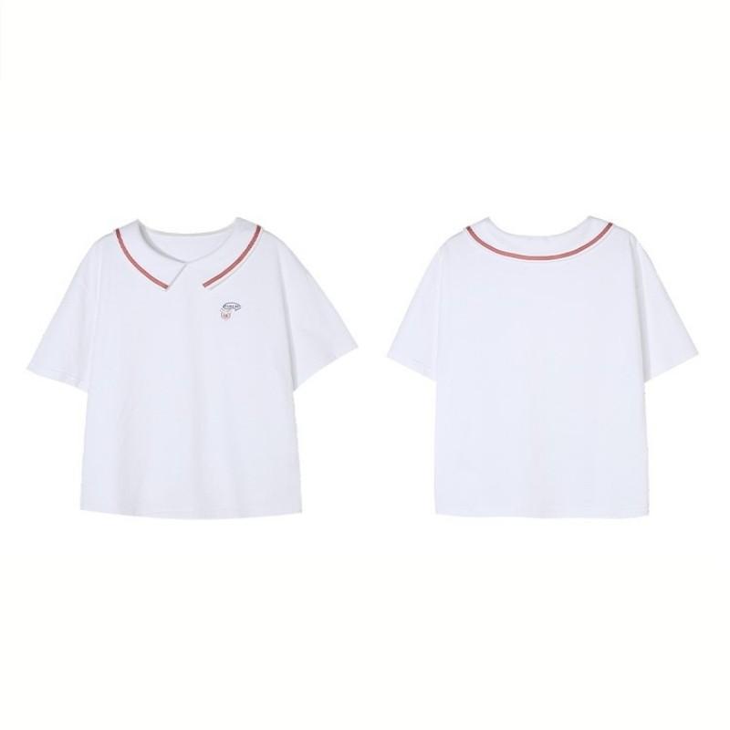 【BYJ】ドールカラーコントラストシャツ◆トップス S、M、L