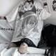 キャラクタープリントルーズTシャツ◆トップス Tシャツ M、L、XL