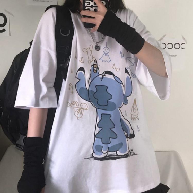 イラストプリントTシャツ怪獣ver◆トップス Tシャツ M、L