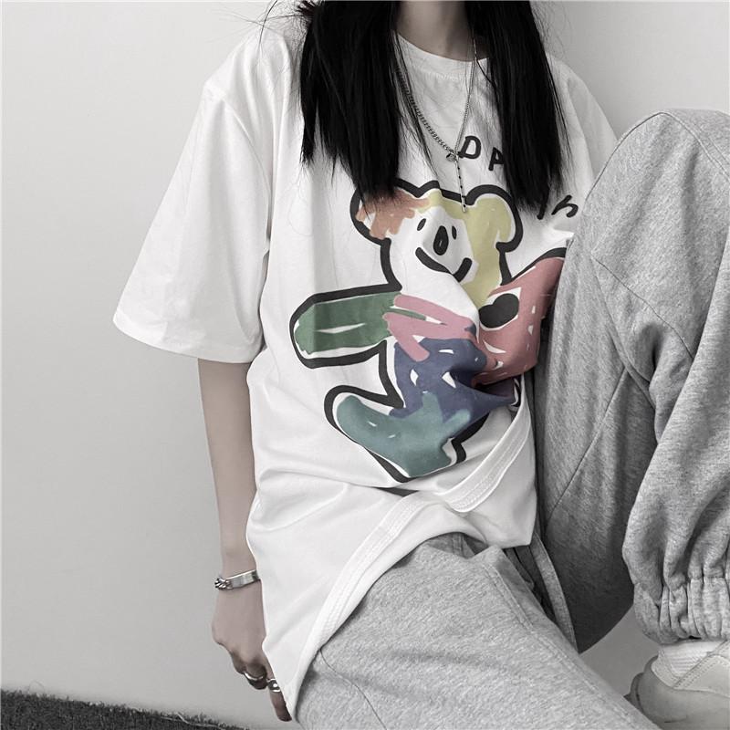 イラストプリントTシャツドリームクマver◆トップス Tシャツ ワンサイズ