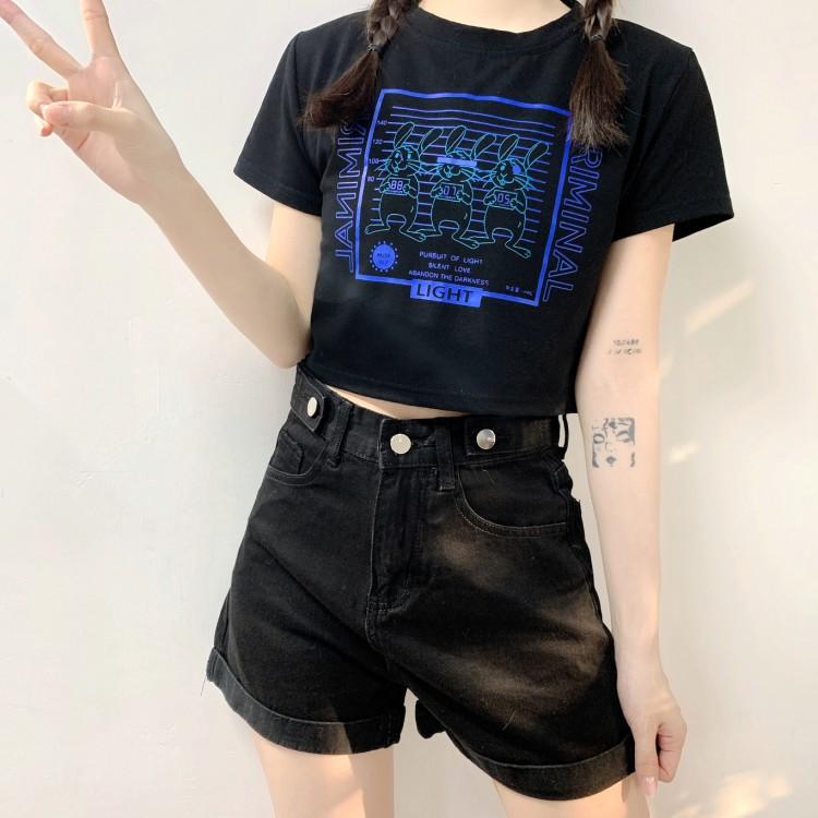 イラストプリントTシャツ3ラビットver◆トップス Tシャツ ワンサイズ