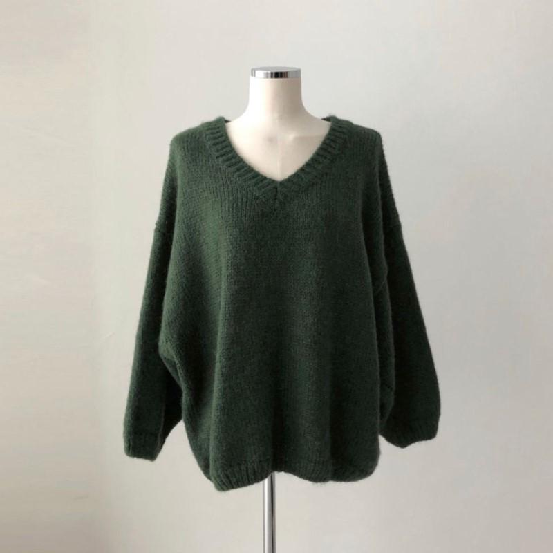 �ネックビッグルーズセーター◆トップス ワンサイズ