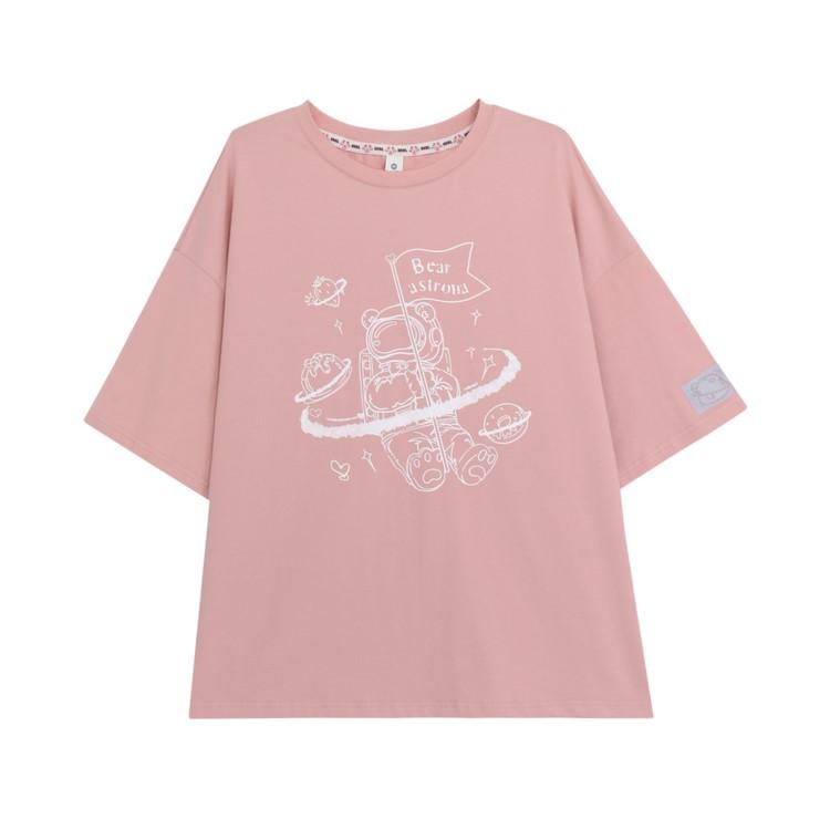 【snbl】イラストプリントTシャツアストロベアver◆トップス Tシャツ S、M、L
