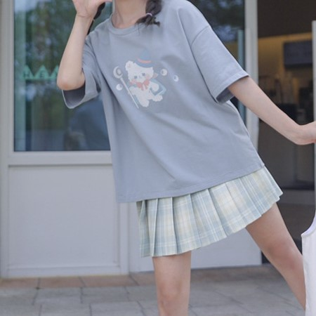 【snbl】イラストプリントTシャツマジックベアver◆トップス Tシャツ S、M、L