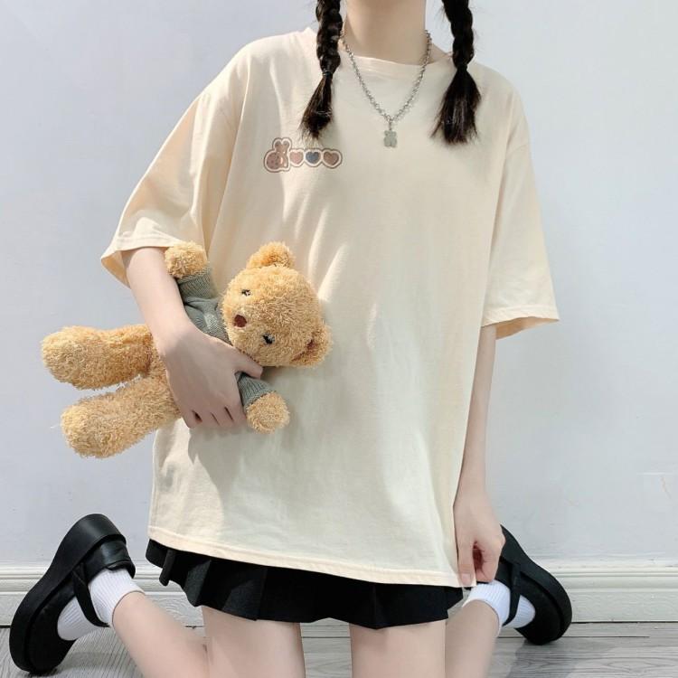 バックプリントTシャツベアビスケットver◆トップス Tシャツ S、M、L