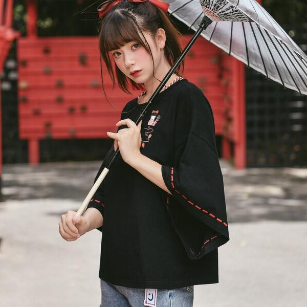 【snbl】七分袖ワイドスリーブTシャツ◆トップス Tシャツ S、M、L