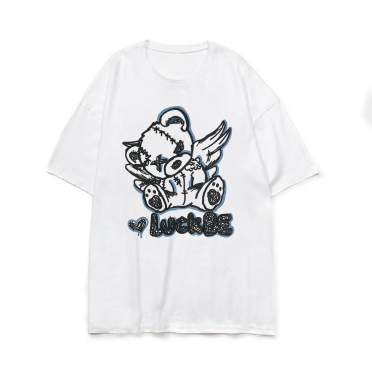 イラストプリントTシャツラックベアver◆トップス Tシャツ M、L、XL