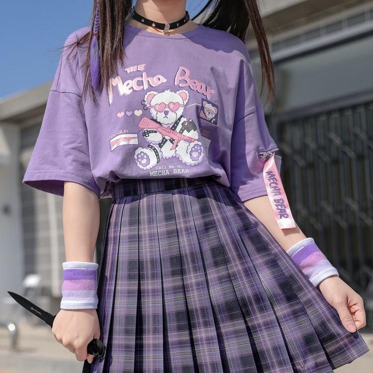 【snbl】イラストプリントTシャツメカベアver◆トップス Tシャツ S、M、L