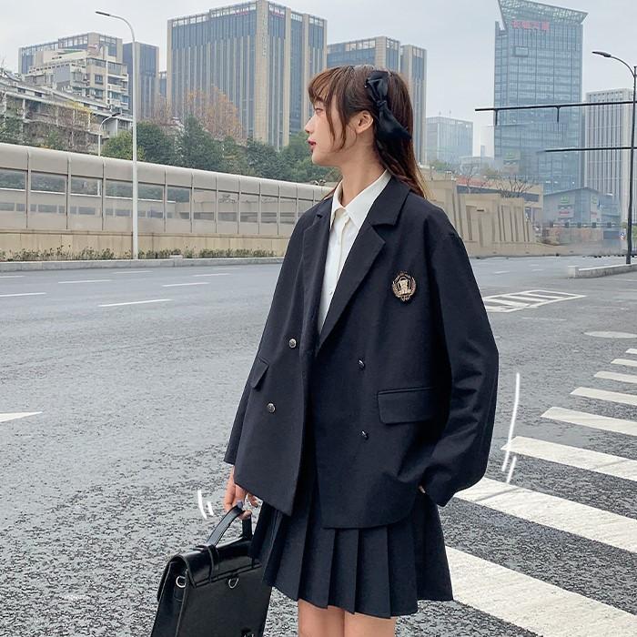【BYJ】 学生服風ダブルブレストジャケット◆アウター S、M、L