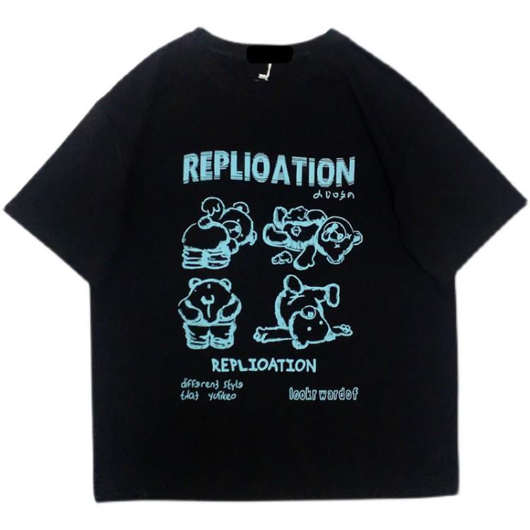 イラストプリントTシャツREPクマver◆トップス Tシャツ M、L