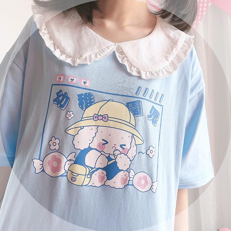【CW】ドールカラー園児プリントTシャツ◆トップス Tシャツ ワンサイズ