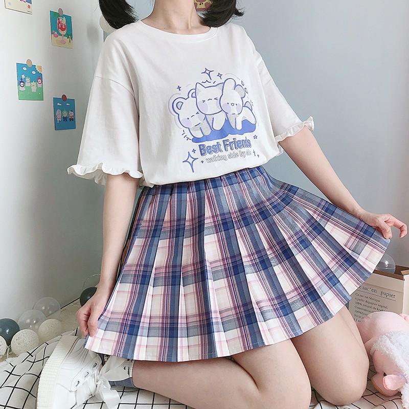 【CW】フリルスリーブネコプリントTシャツ◆トップス Tシャツ ワンサイズ