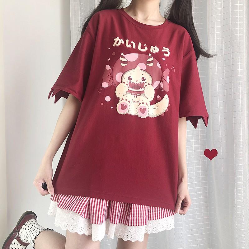 【CW】キャンディモンスタープリントTシャツ◆トップス Tシャツ ワンサイズ